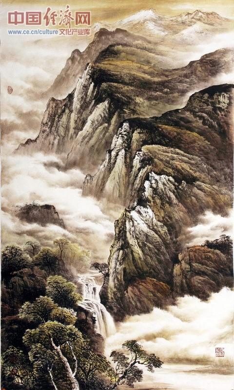 中国企业家_杜中良著名山水画家国画作品
