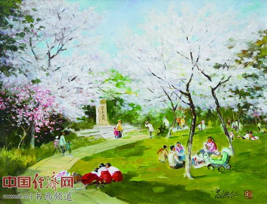 《樱花时节》2007年 吕洪仁 作